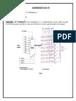 VHDL code for 8:1 Multiplexer.