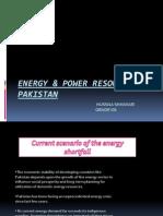 Energy & Power Resources of Pakistan