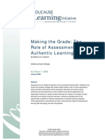 Making the Grade the Role of Assessment in Authentic Learning