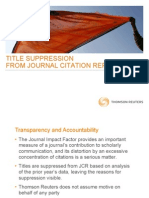 Jcr Suppression
