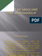 Adresare IP - Prezentare