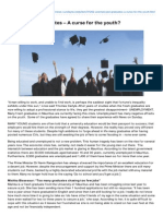 05.05.13 - Unemployed graduates – A curse for the youth