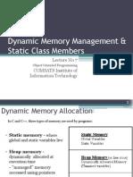 OOP-Lec 7(Dynamic Memory Management)