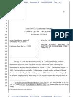 USDC Disbarment - Dkt 12 - Order Denying Recusal of Judge Otis Wright