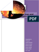 Analysis of Indian Iron and Steel Industry