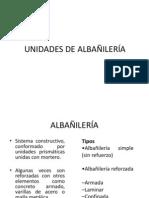 10.1UNIDADES DE ALBAÑILERÍA.