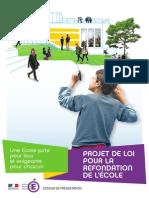2013 Dossier de Presse Projet de Loi Refondation Ecole 239293