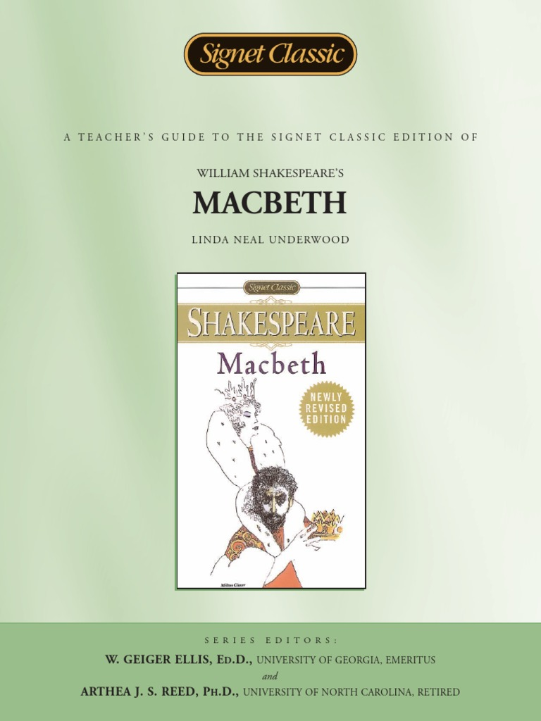 william shakespere macbeth character connection