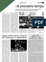 Beppe Grillo a taranto per il referendum