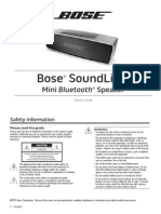 Bose Mini Sound Instruction Manual