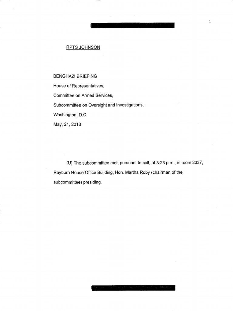 declassified transcripts of benghazi briefings released