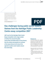 Key Challenges Facing Public Sector Leaders