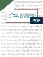 PREERENCIA DE LA POBLACION A LAS DIGNIDADES DE ALCALDE DEL CANTON PASTAZA Y PREFECTO DE LA ROVINCIA DE PASTAZA.docx
