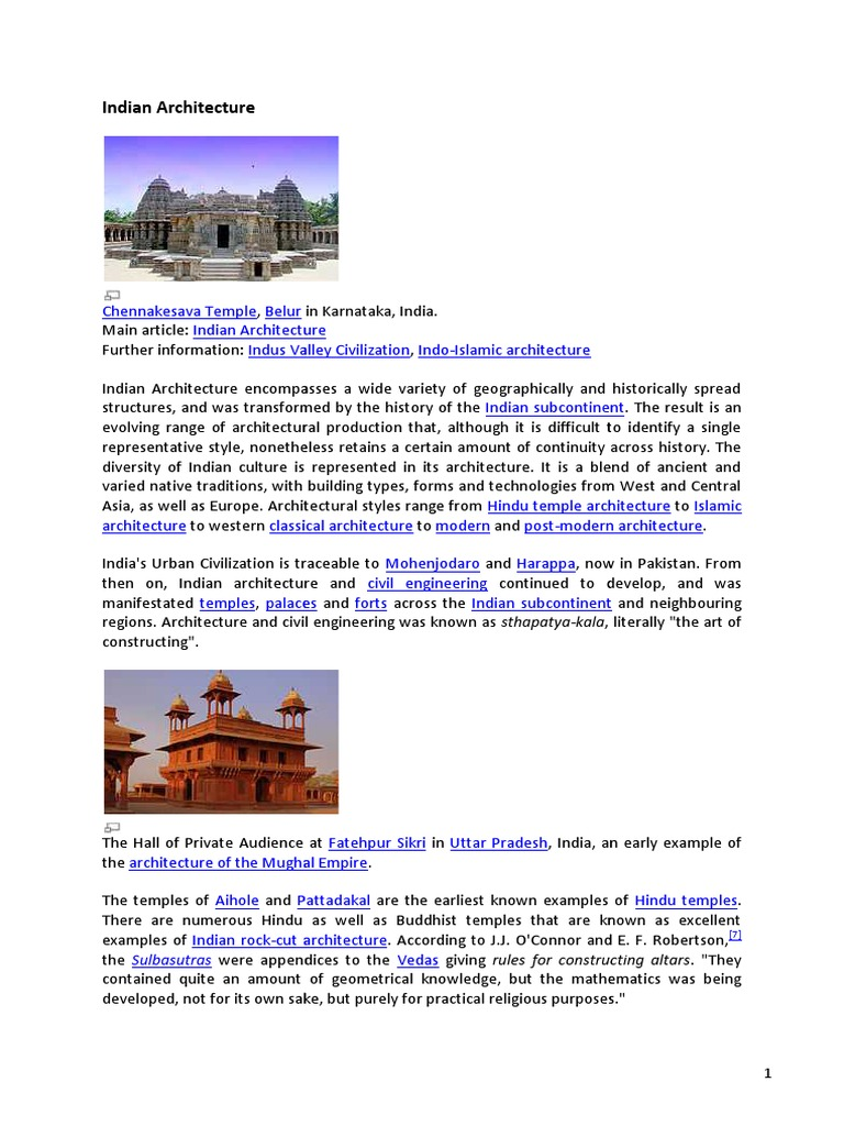 X 008 Indian Architecture | Architectural Styles