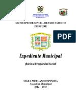 Expediente Municipio de Since 2012