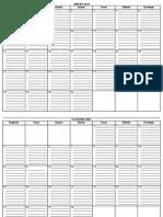Calendário 2013 para notas
