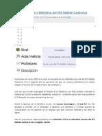 Plan de Lectura y Biblioteca Del IES Matilde Casanova -Proyecto de Biblioteca