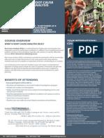 Root Cause Analysis, 17 - 18 September 2014 Dubai, UAE
