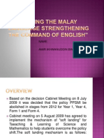 Upholding Malay Language Strengthening Command English Language