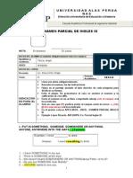 Examen Parcial Ingles Ix Julio 2013