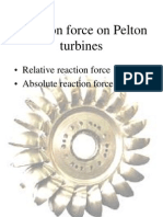 Reaction Force in Pelton Turbines