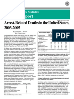 Arrest Related Deaths, 2003 to 2005