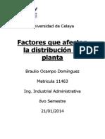 Factores que afectan la distribución en planta -