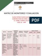 Matriz de Monitoreo y Evaluacion