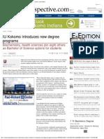 Chancellor Michael Harris IUK Introduces New Degree Programs - Kokomo Perspective MH