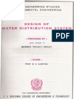 DESIGN OF WATER DISTRIBUTION SYSTEM,ENVIRONMENTAL ENGINEERING