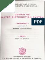 DESIGN OF WATER DISTRIBUTION SYSTEM,ENVIRONMENTAL ENGINEERING