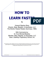 How to Learn Faster - Howard Berg World s Fasterst Reader Guinness 1990