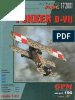 Fokker_D-VII Paper Model