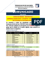 2014.01.15 Comunicado Horarios y Aulas Verano 2013