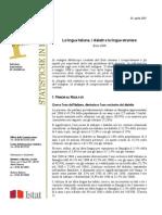 Lingue e Dialetti e Lingue Straniere in Italia