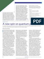 2009 - A New Spin on Quantum Plasmas Attosecond Plasma Optics