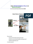 EU Environmental Policy or Green Economy - F