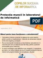 Protecția muncii în laboratorul de informatică