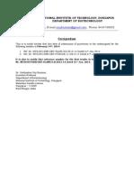 Corrigendum to Tender Notifications, Department of Biotechnology
