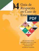Guía de Respuesta en Caso de Emergencia 2004