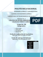 Informe 2 Calculo de Intercambiadores de Tubos y Coraza