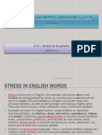 Intonation Stress
