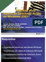 38746533 Mejores Practicas en Diseno de Directorio Activo en Windows Server 2003