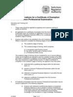 QLTT Exemption Notes