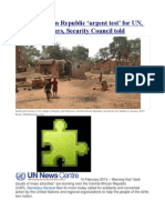 Central African Republic 'urgent test' for UN, regional partners, Security Council told
