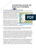 HowNotto Get Aid Into Homs, Yarmouk, and to 9.3 Million Syrians Via a UN Resolution