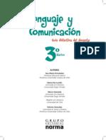 Lenguaje y Comunicación - 3° Básico guia docente