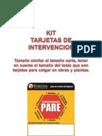 Kit Tarjetas de Intervencion UEPs f21