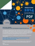 Marketing Sales Predictions 2014