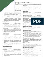 Resume - Arjun Raj Prabu As